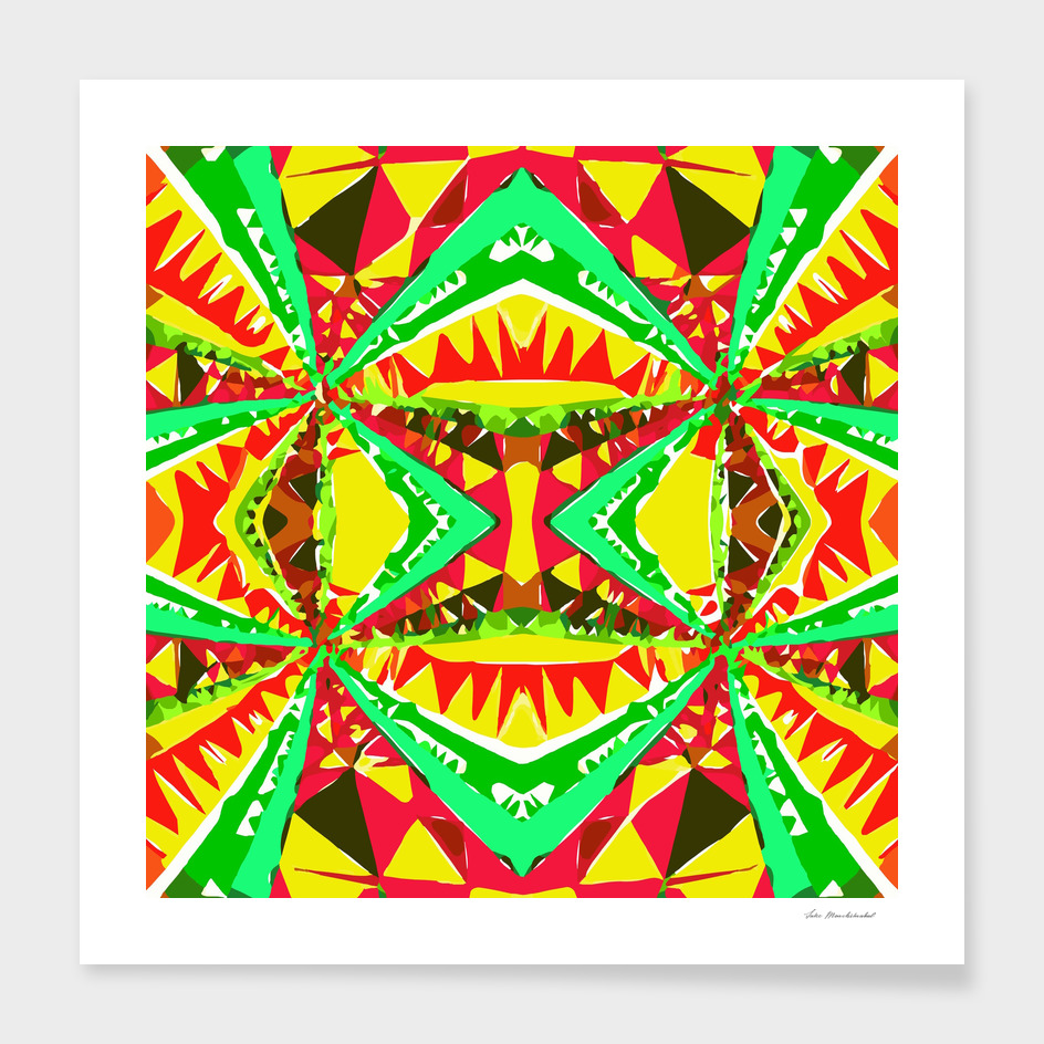 geometric triangle symmetry art pattern abstract in red