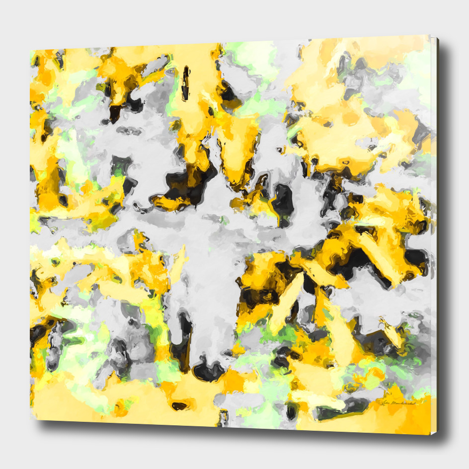 splash painting texture abstract in yellow and black