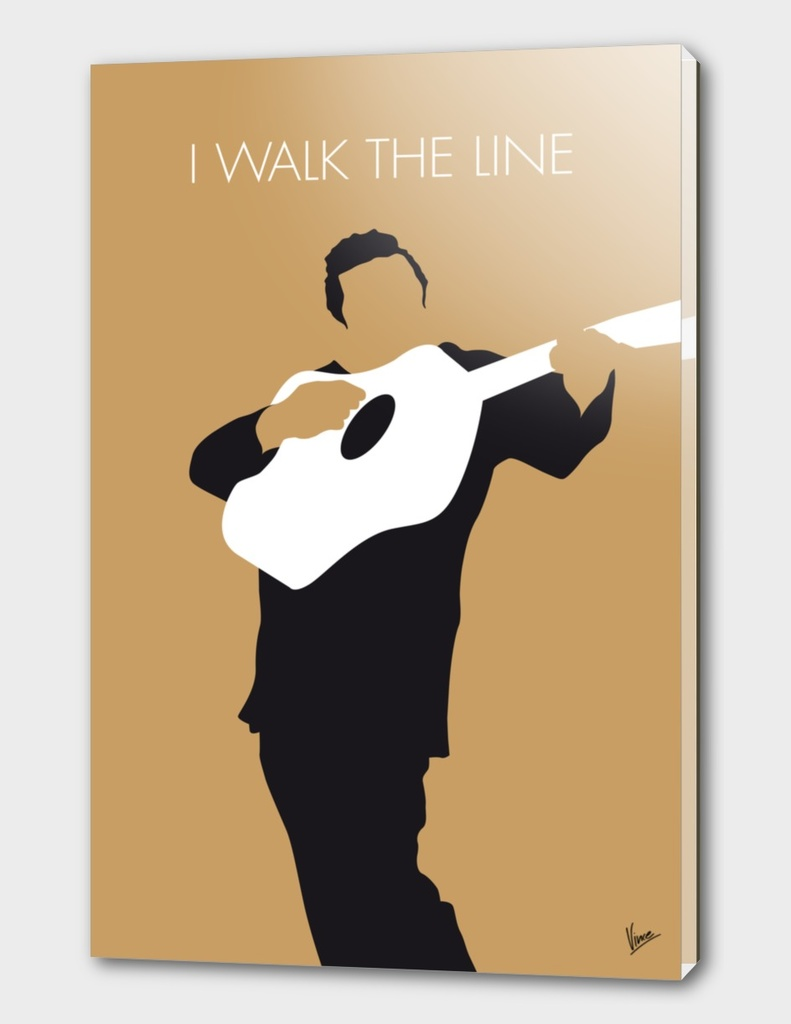 No010 MY Johnny Cash Minimal Music poster
