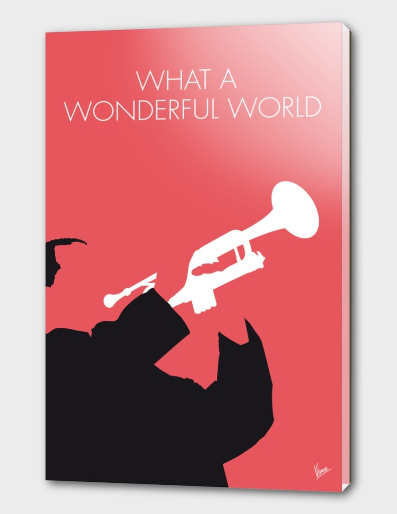 No012 MY LOUIS ARMSTRONG Minimal Music poster-curioos