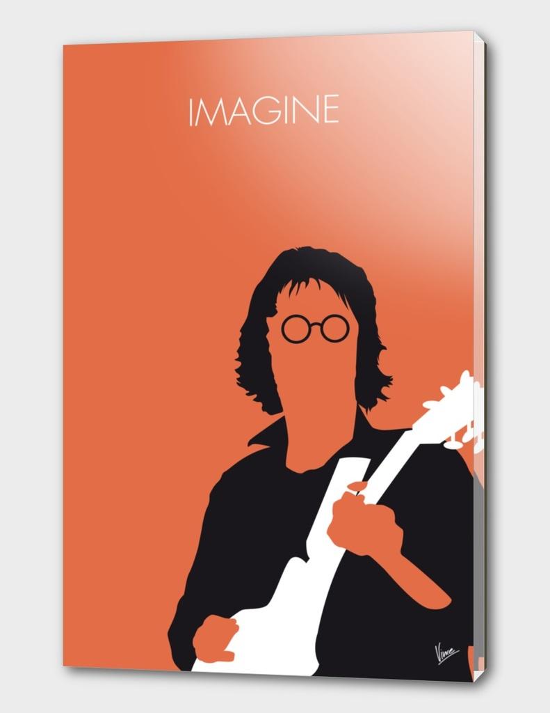 No013 MY John lennon Minimal Music poster-curioos