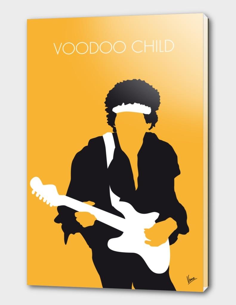 No014 MY Jimi Hendrix Minimal Music poster-curioos