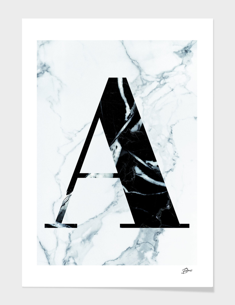 MONOGRAM MARBLE INITIAL A