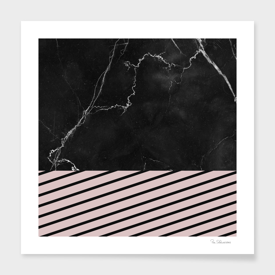 MARBLE & PALE DOGWOOD STRIPES