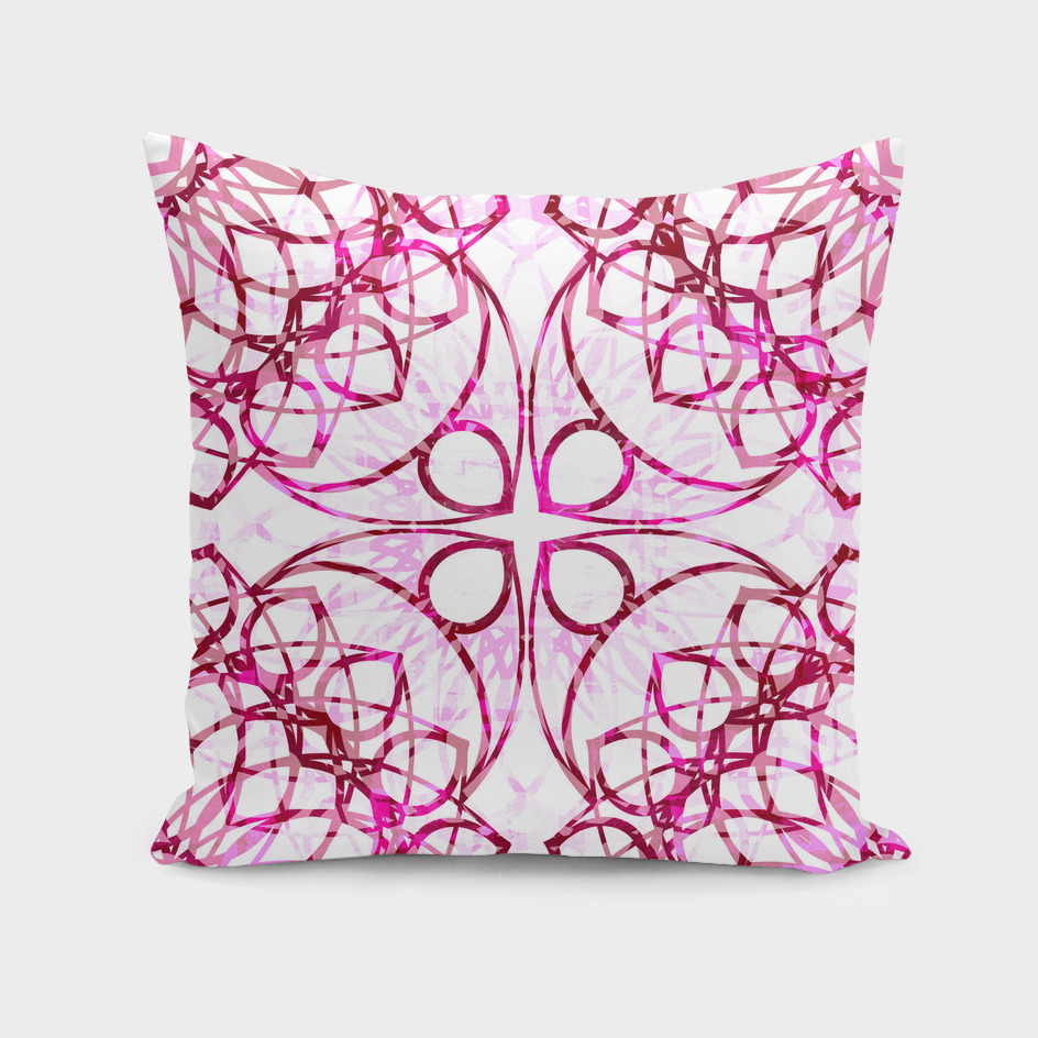 Pink Boho Chic Mandala Pattern
