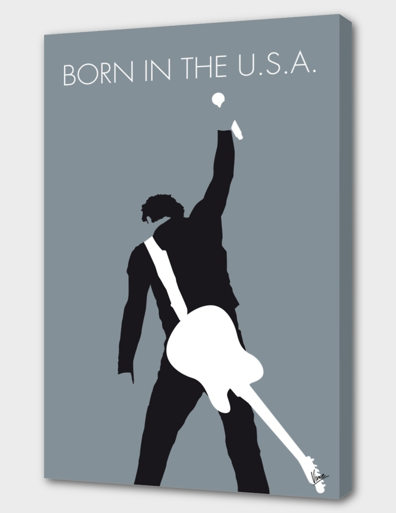 No017 MY Bruce Springsteen Minimal Music poster-curio