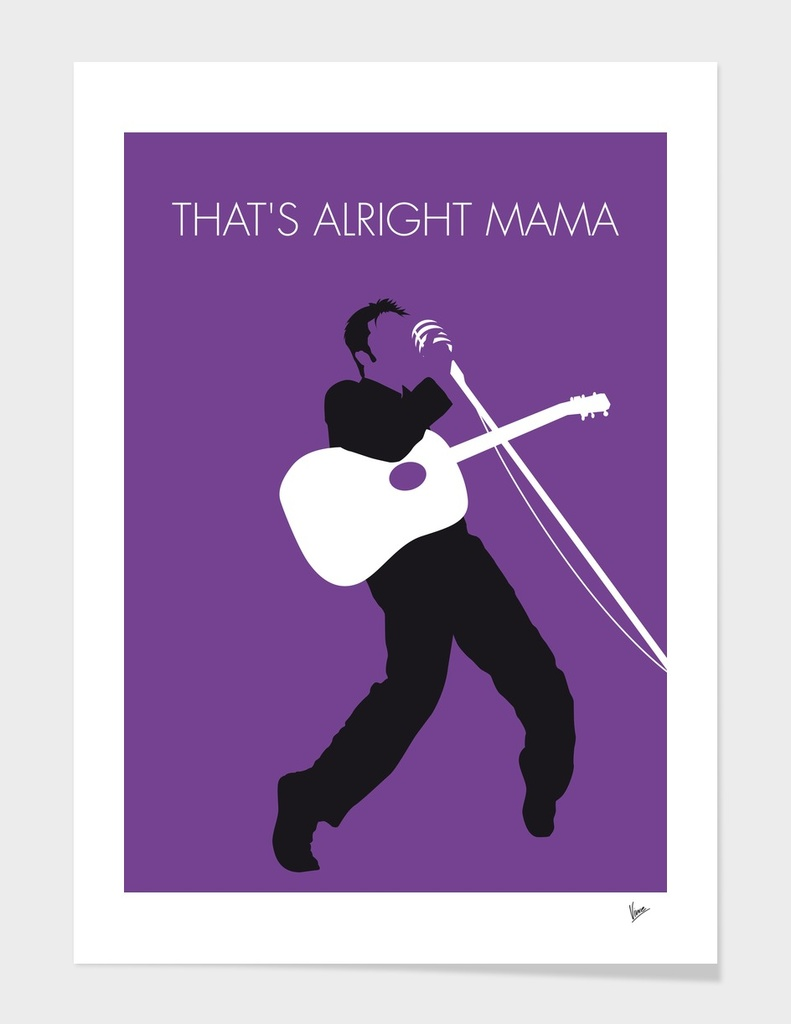No021 MY ELVIS Minimal Music poster-curioos