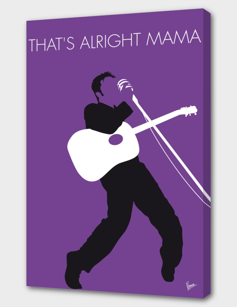 No021 MY ELVIS Minimal Music poster-curioos
