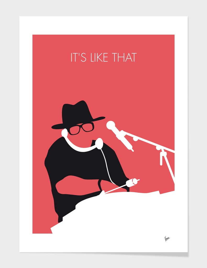 No022 MY RUN DMC Minimal Music poster-curioos» Art Print by