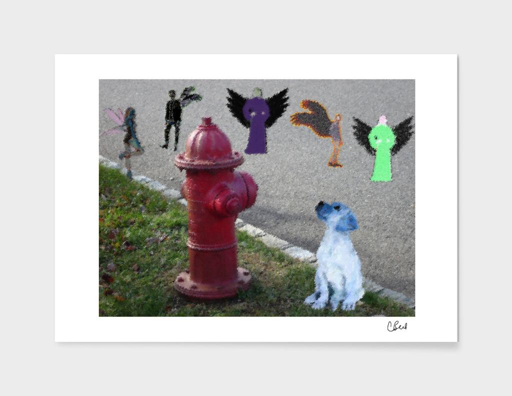 Fairies and a Dog