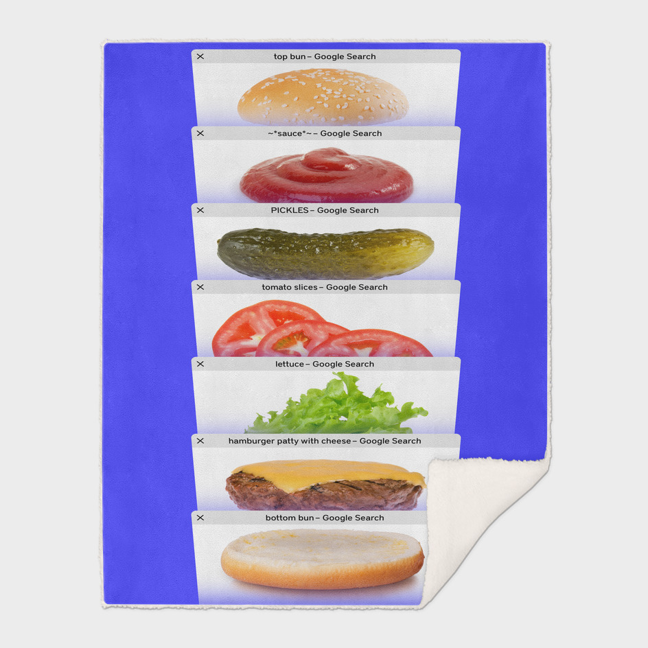 Safari Tabs Cheeseburger - RGB Blue