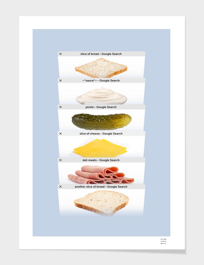 Safari Tabs Sandwich - Cool Gray