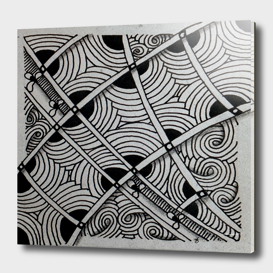 Zentangle tile no. 2