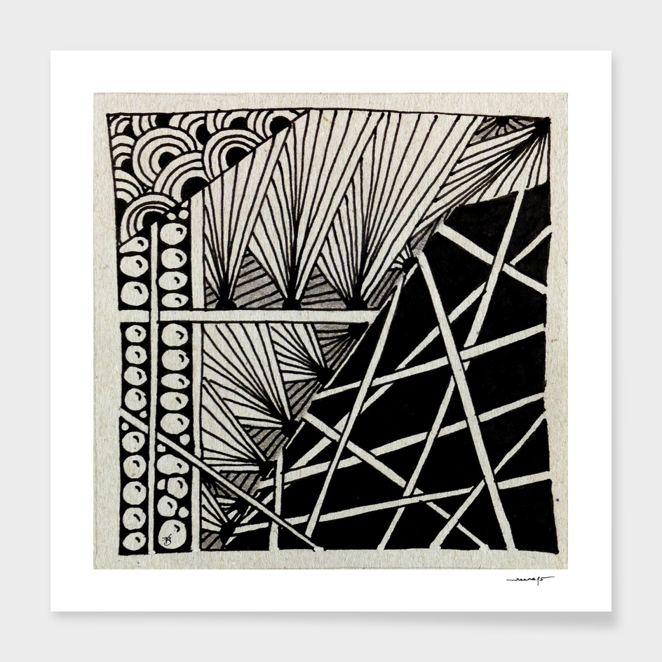 Zentangle Tile  no. 15