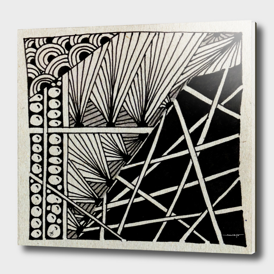 Zentangle Tile  no. 15