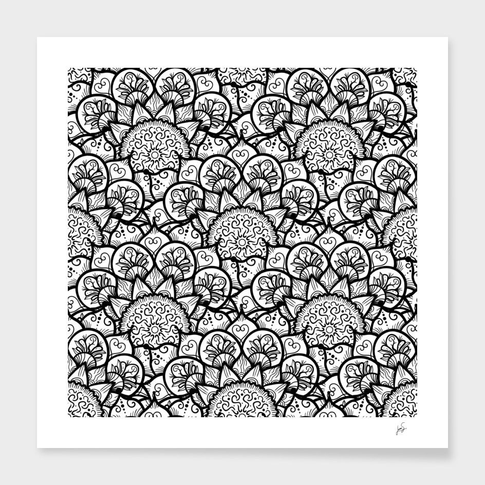 Black White Mandala 2