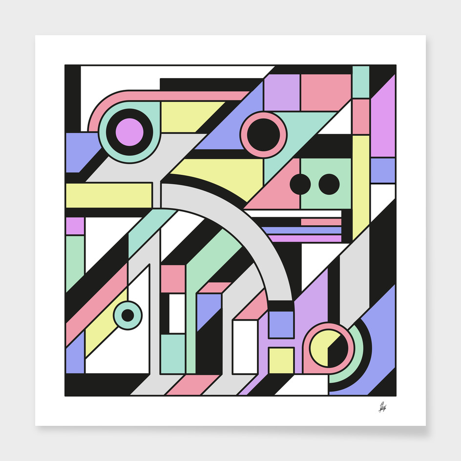 De Stijl Abstract Geometric Artwork