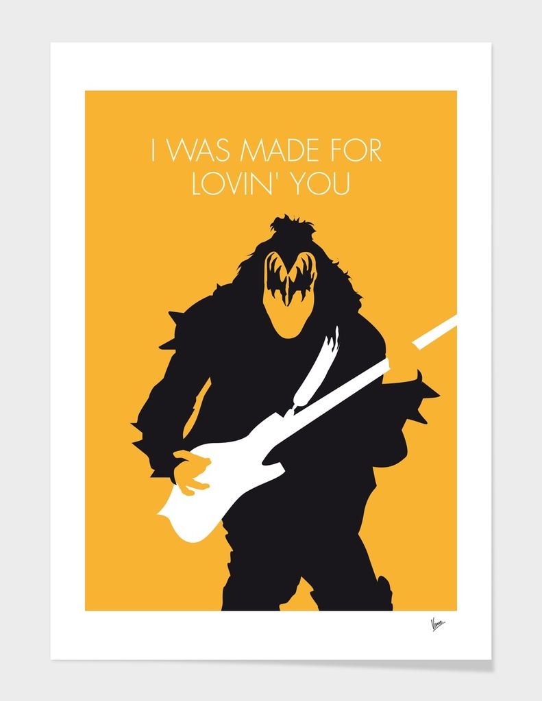 No024 MY KISS Minimal Music poster-curioos
