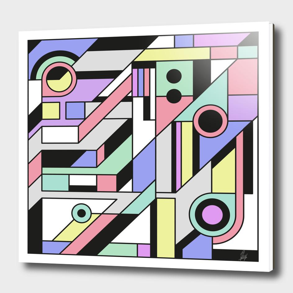 De Stijl Abstract Geometric Artwork 2