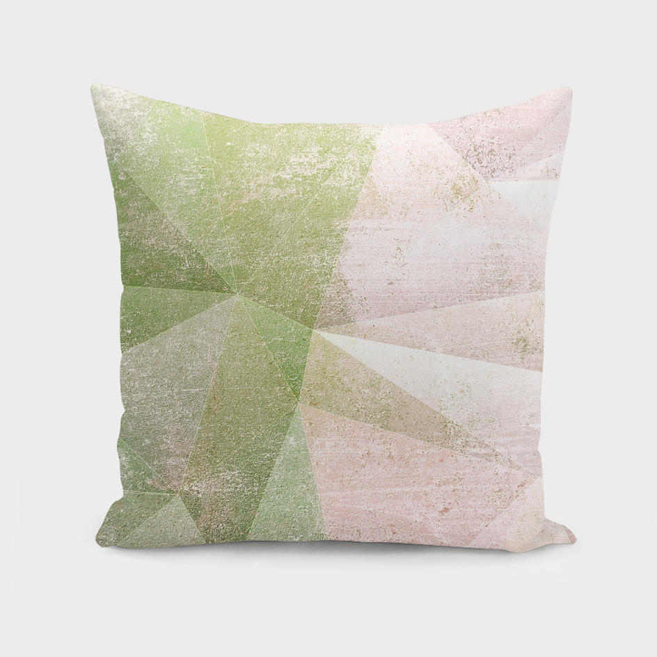 Frozen Geometry - blush and Sage Green