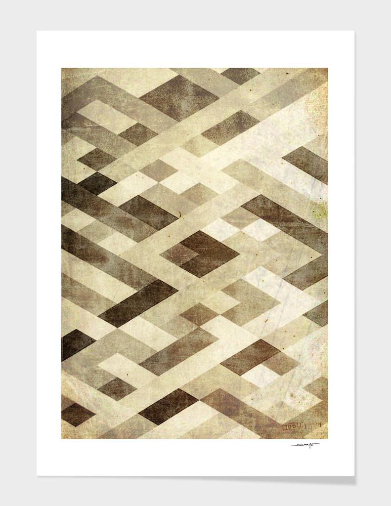 Abstract Pattern in Brown