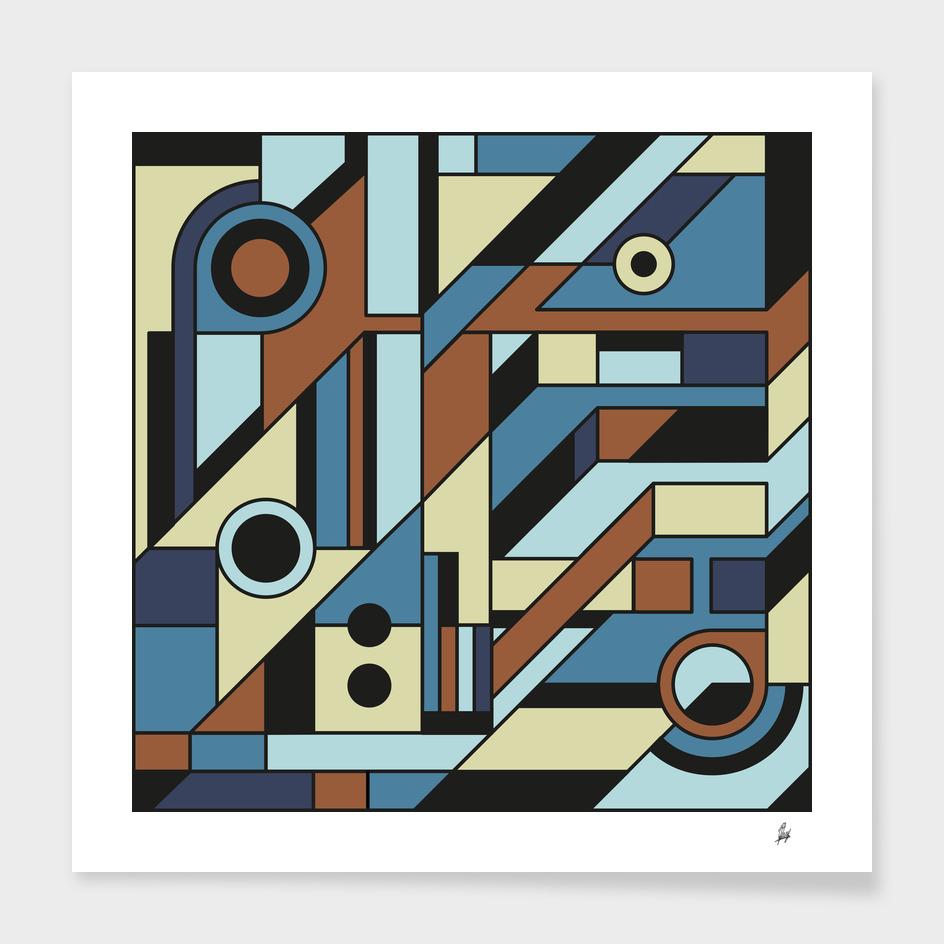 De Stijl Abstract Geometric Artwork 3