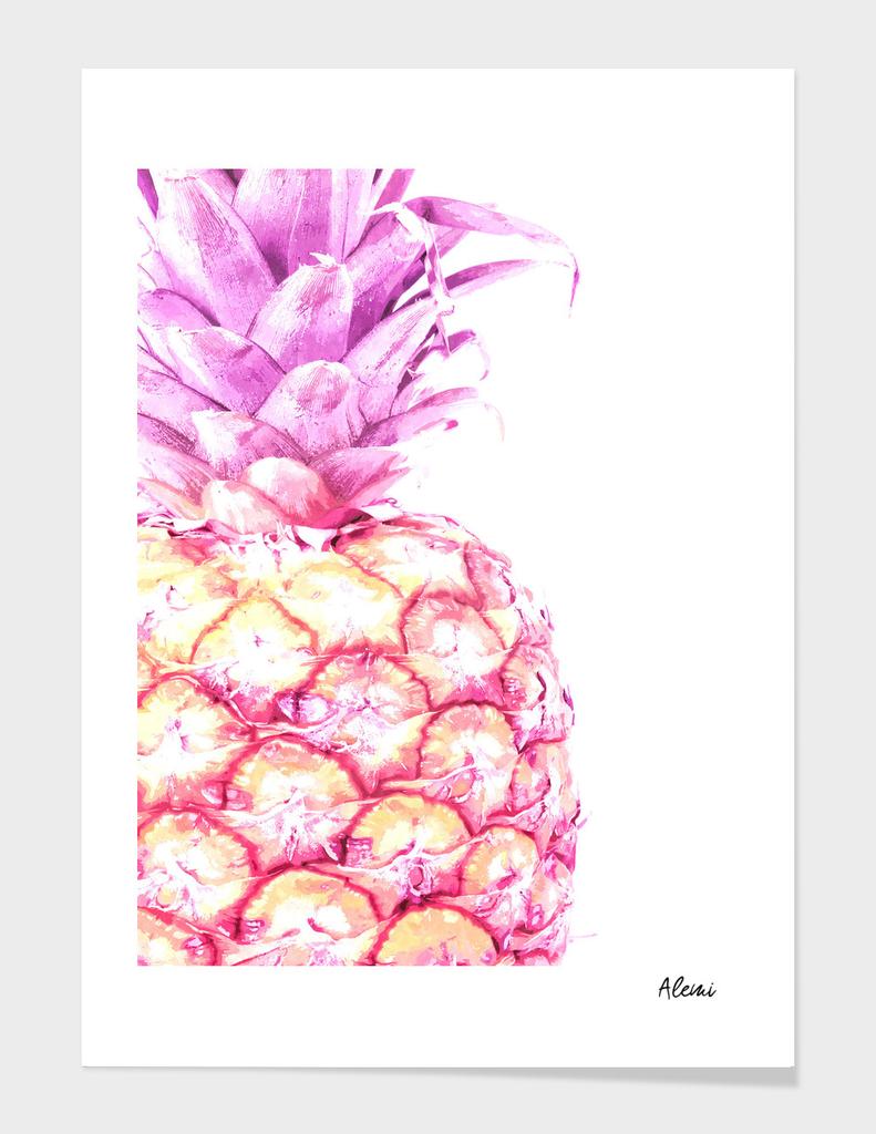 Violet Pineapple Illustration