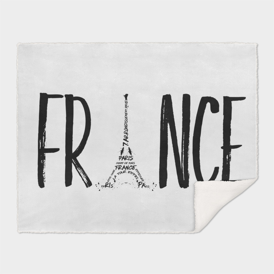 FRANCE Typography