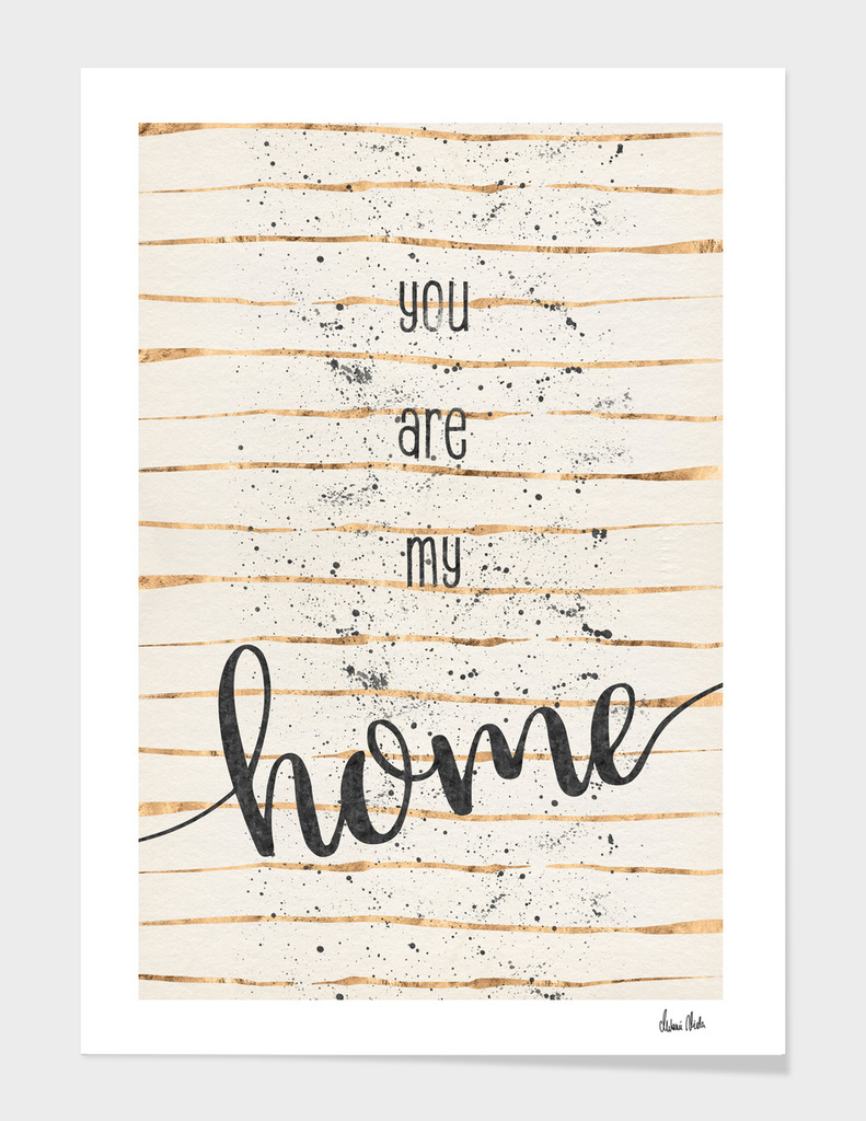 TEXT ART You are my home