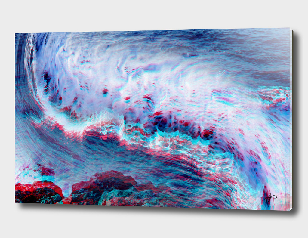 abstract glitch waves