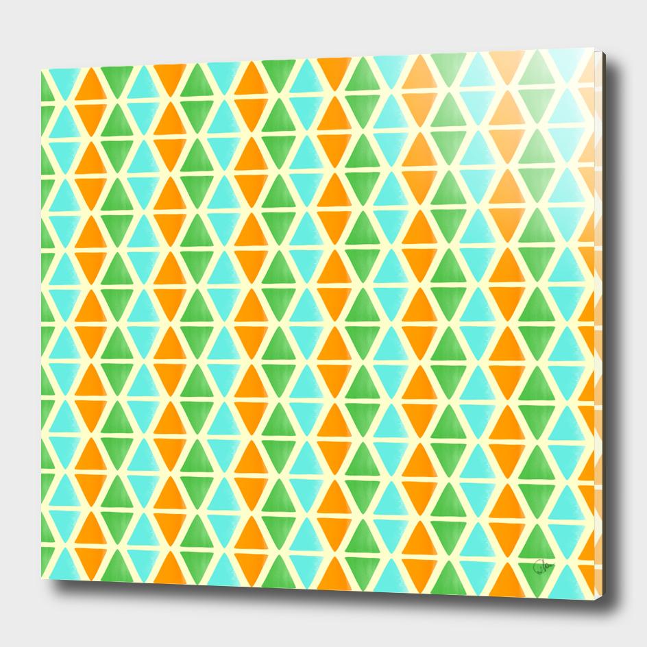 Watercolor triangular pattern