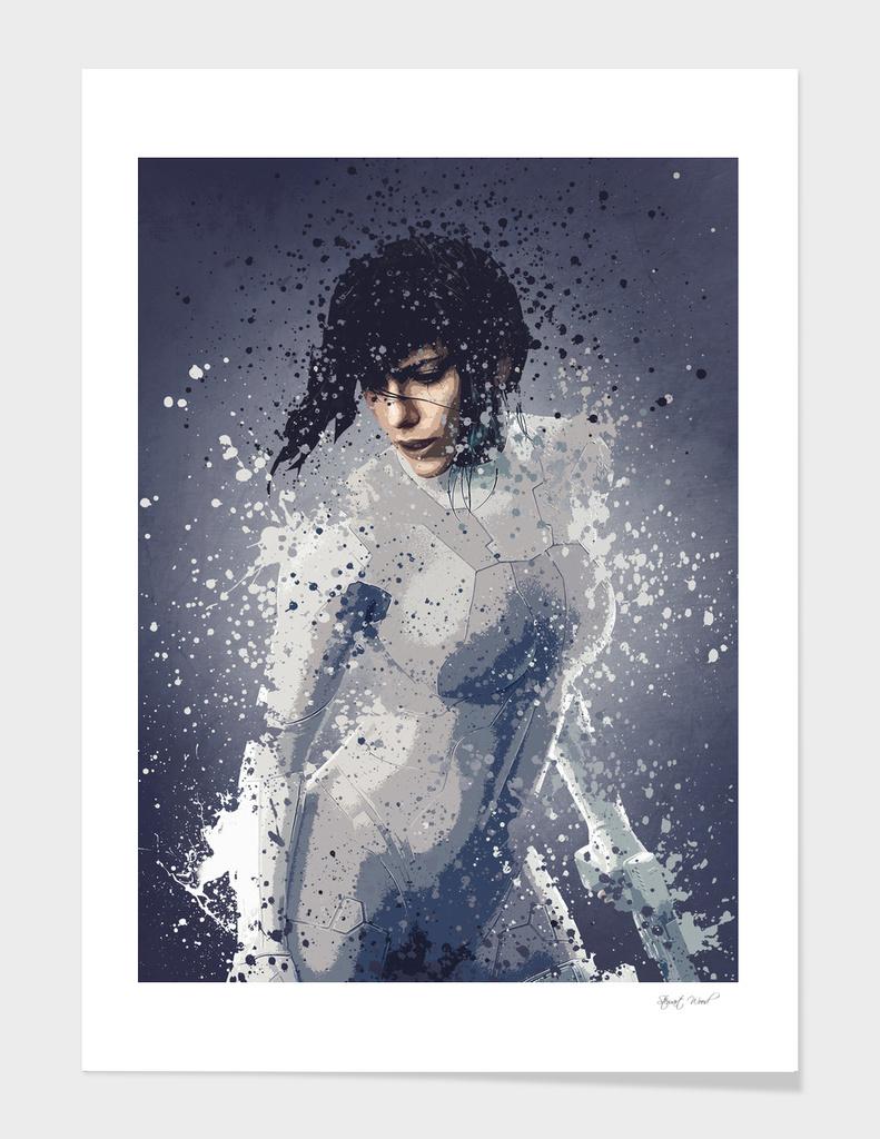Major, splatter effect art work.