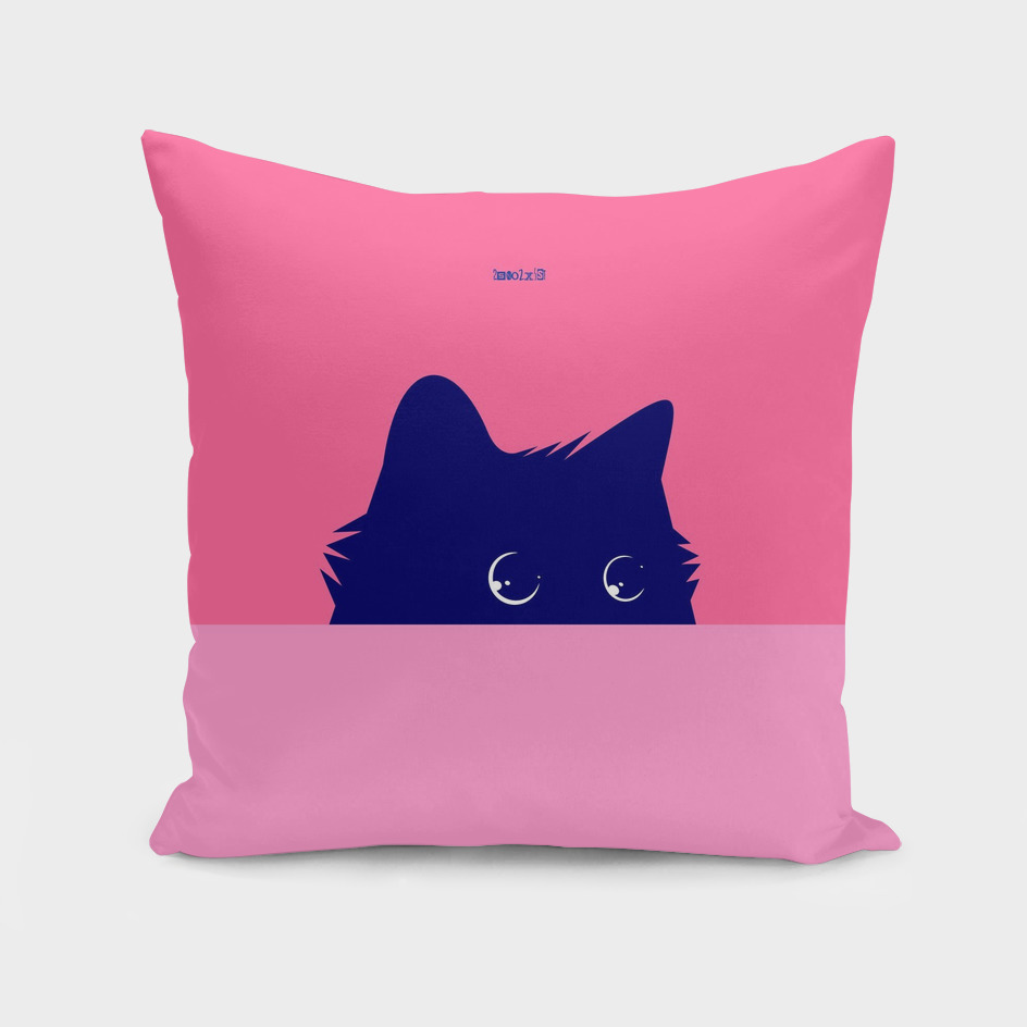 Cat on Deep Pink