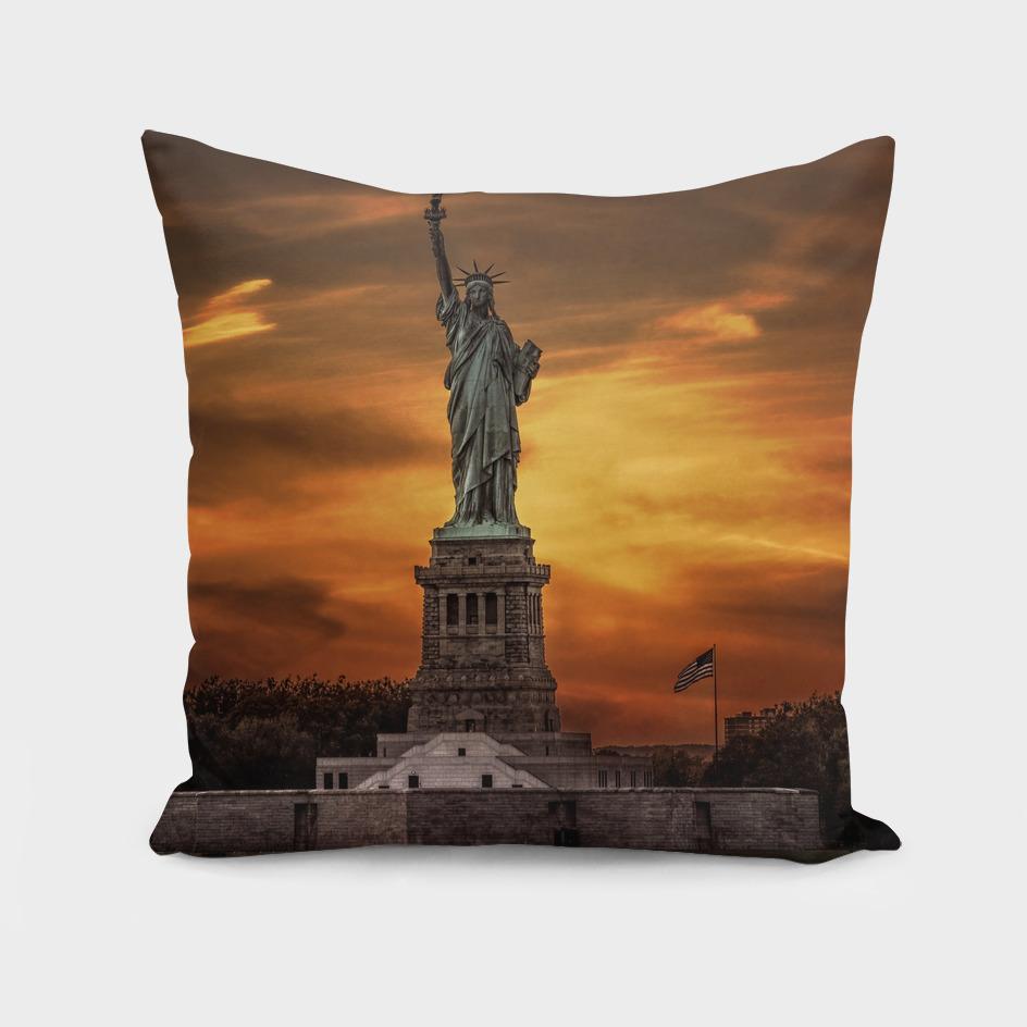 Lady Liberty Sunset