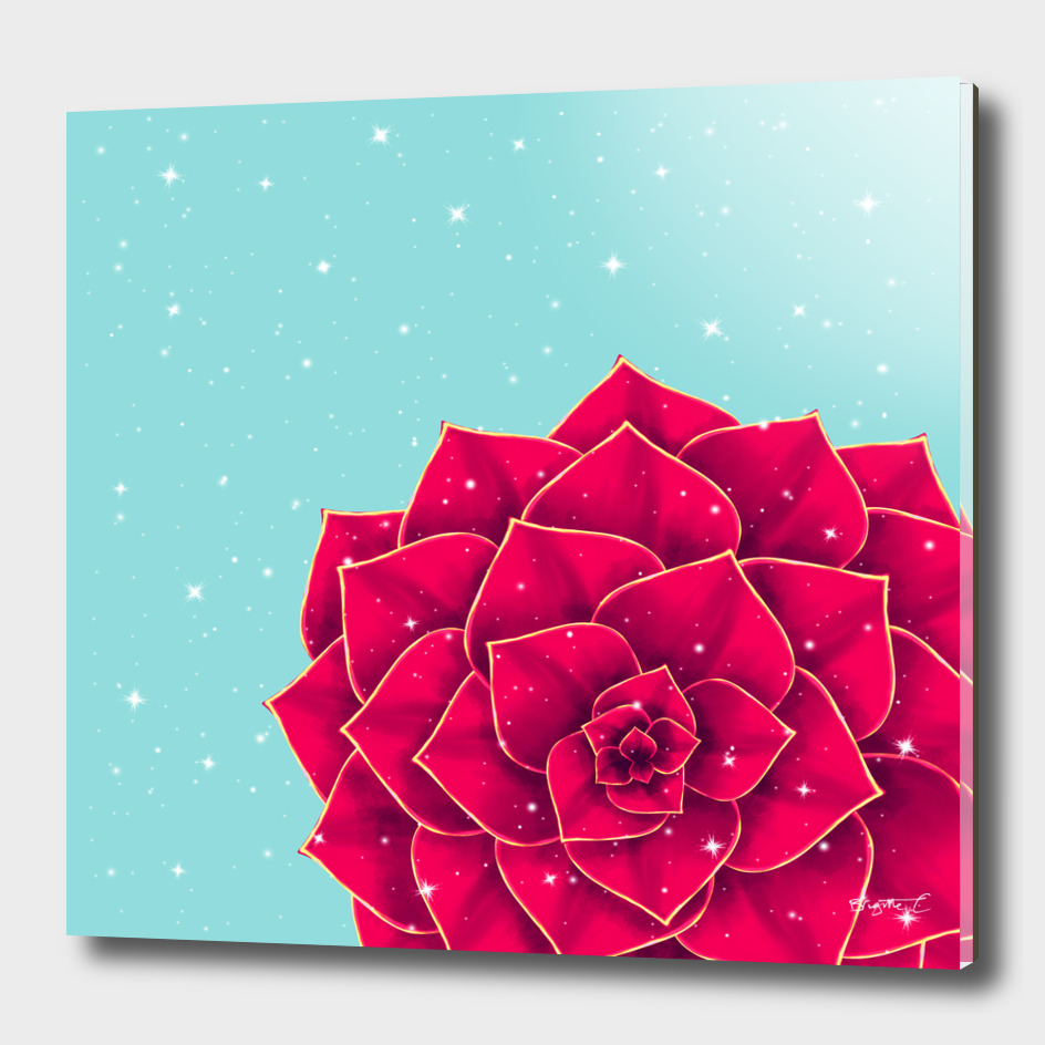 Big Holidays Christmas Red Echeveria Design