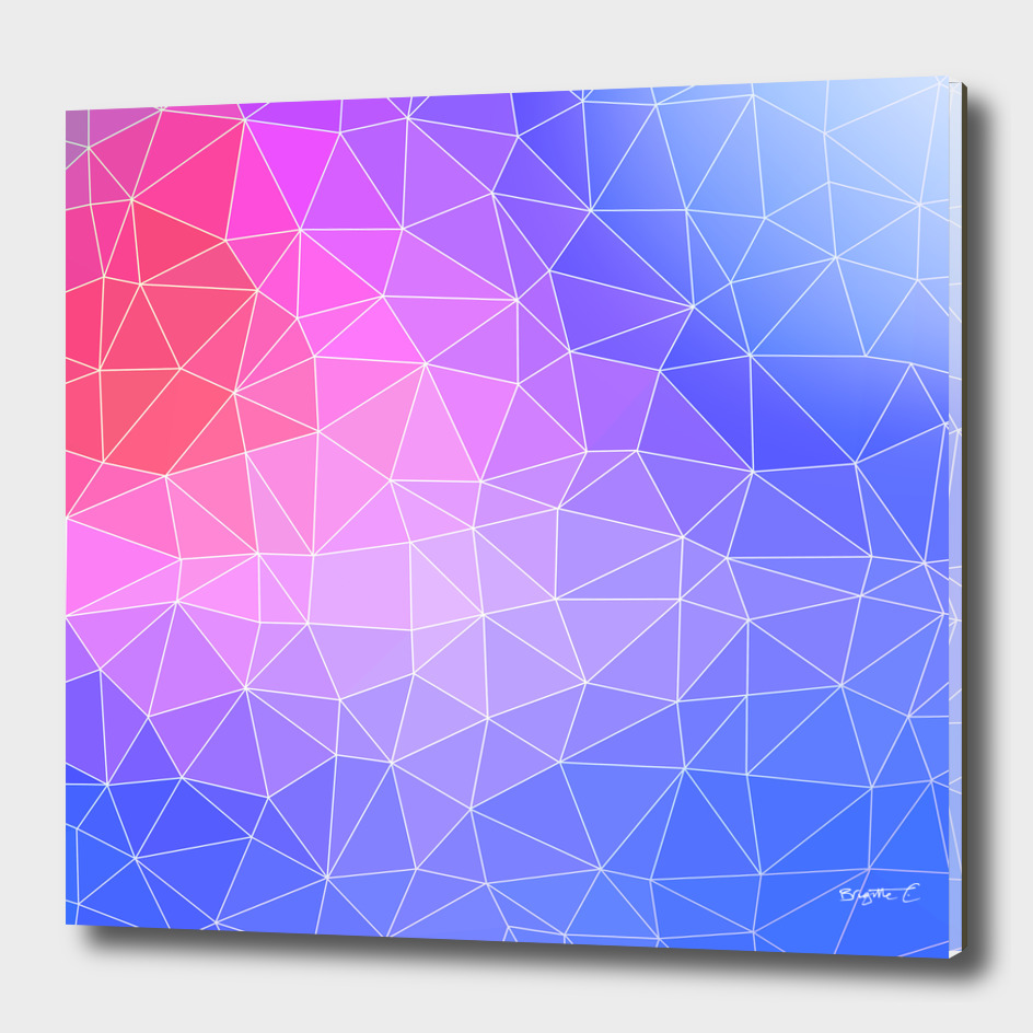 Abstract Colorful Flashy Geometric Triangulate Design