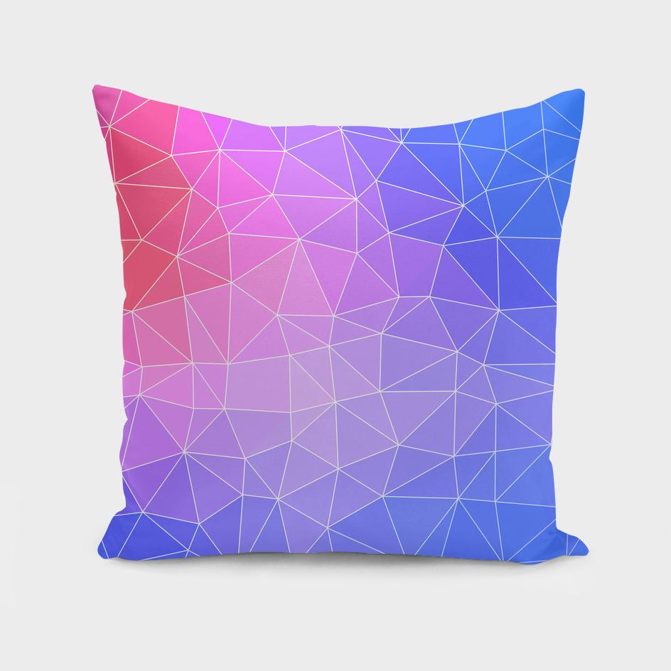 Abstract Colorful Flashy Geometric Triangulate Design