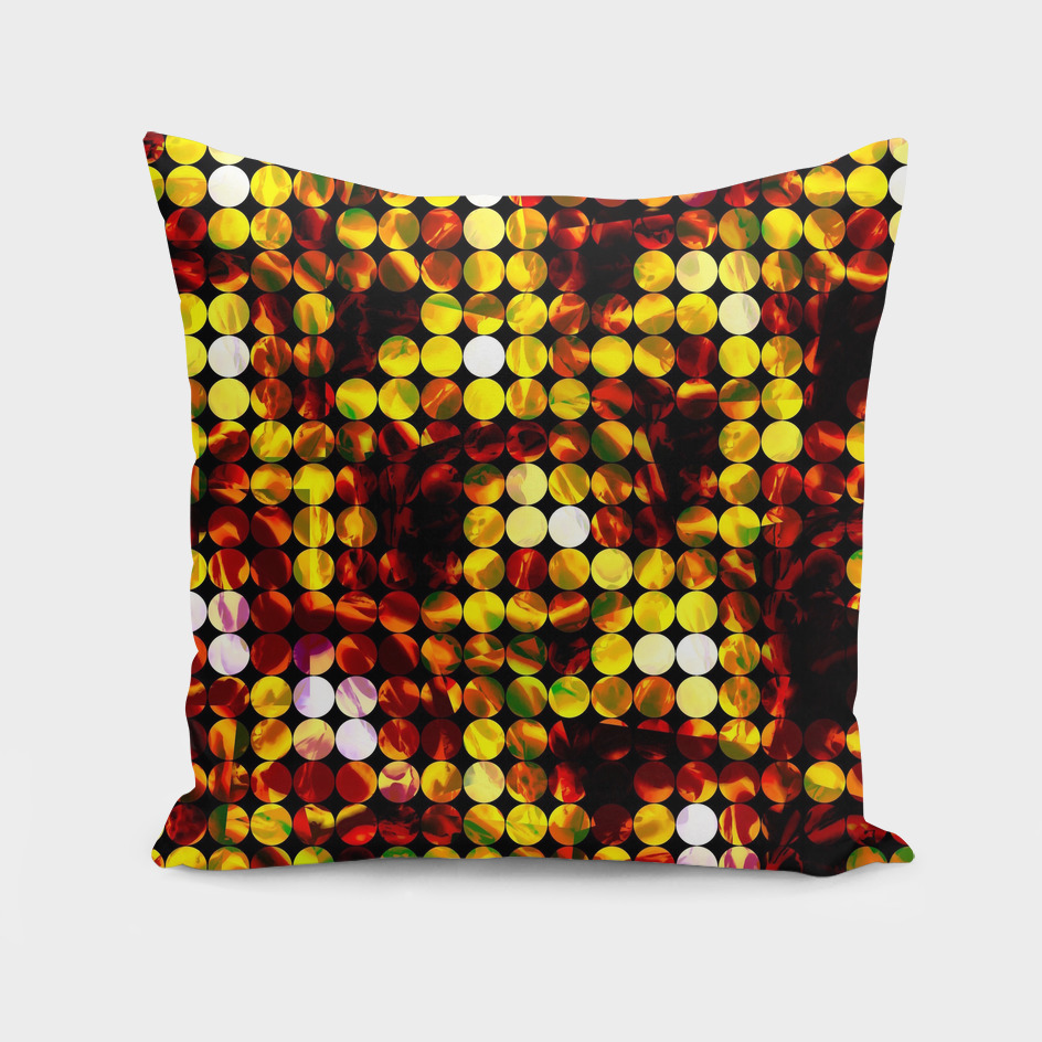 geometric circle pattern abstract in brown and yellow