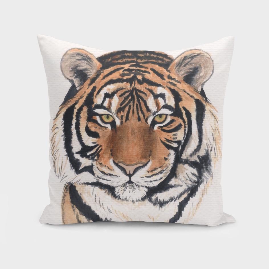 Tiger portrait watercolor