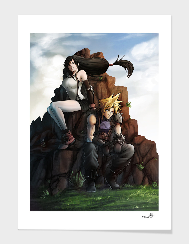 Cloud and Tifa