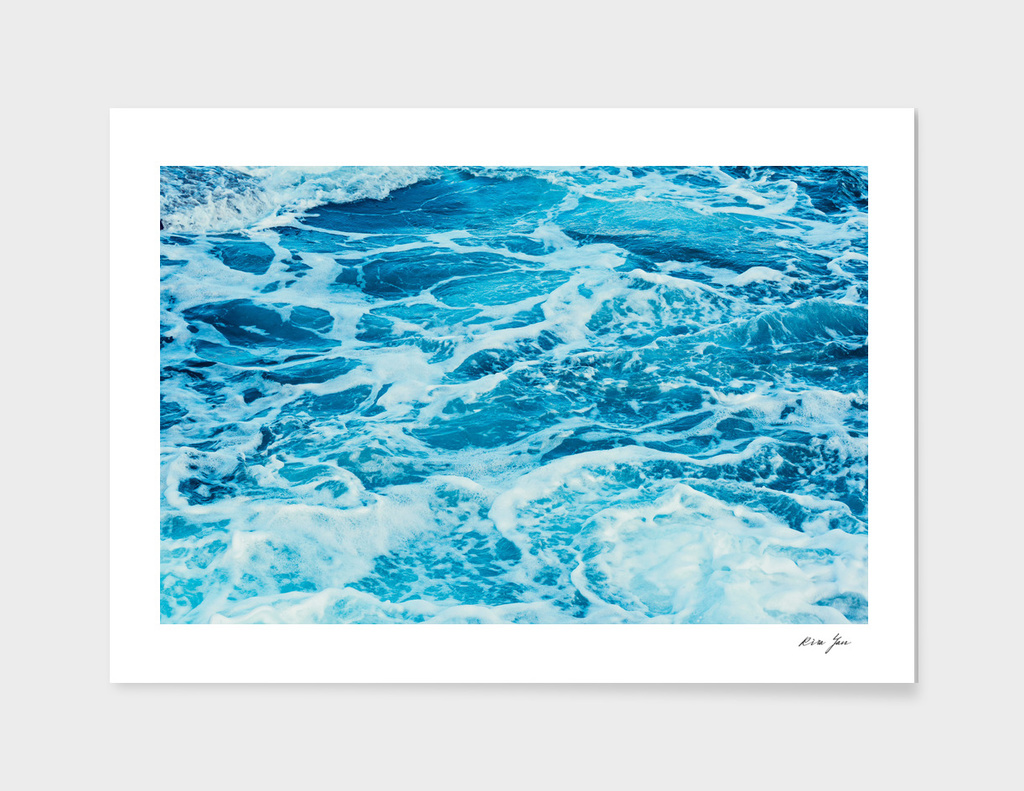 Aqua  blue sea water