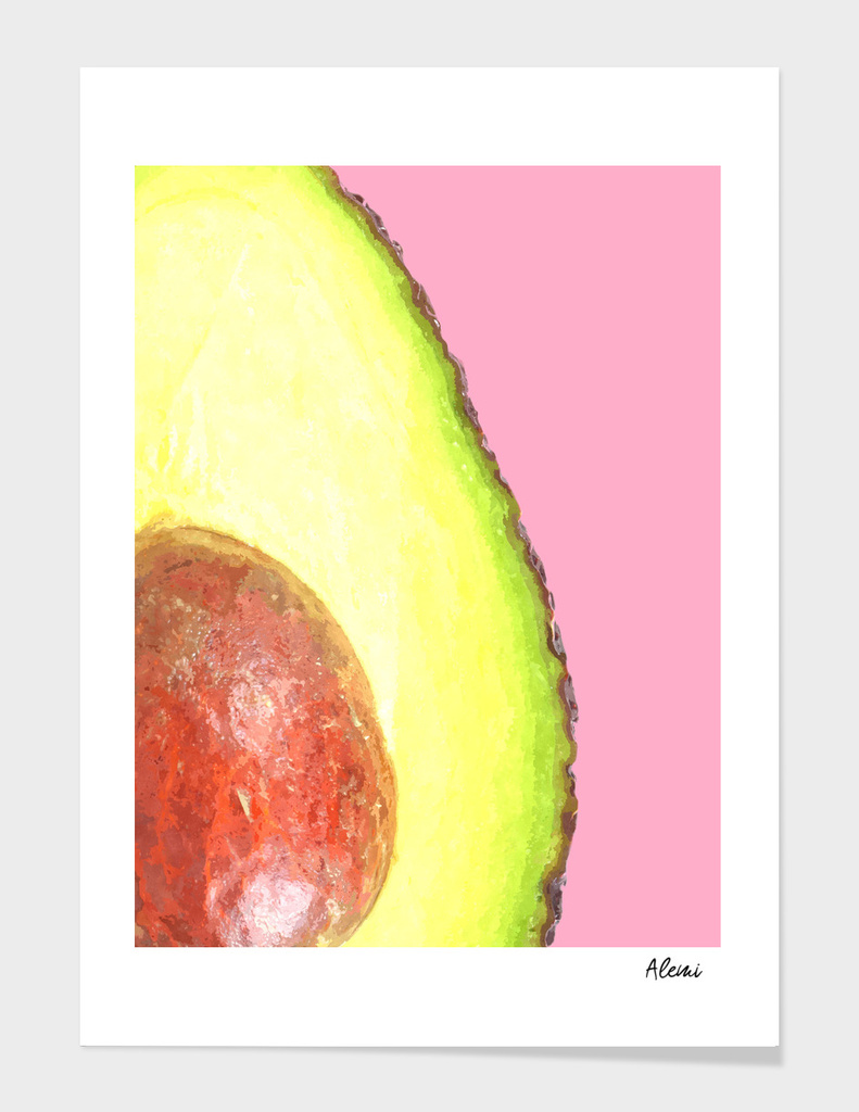 Avocado Pink Background