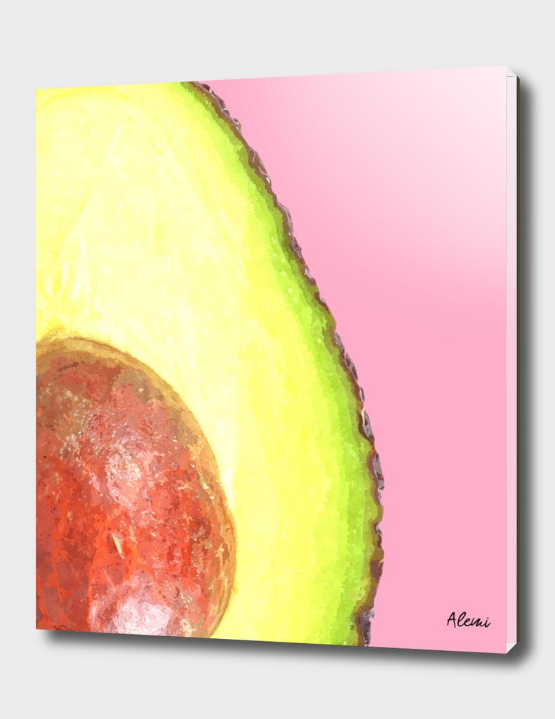 Avocado Pink Background