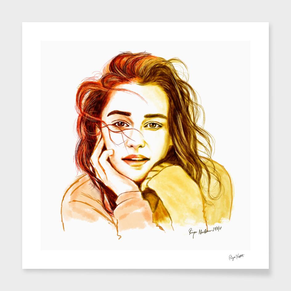 Emilia Clarke Pop Art