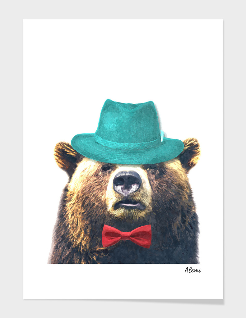 Funny Bear Illustration