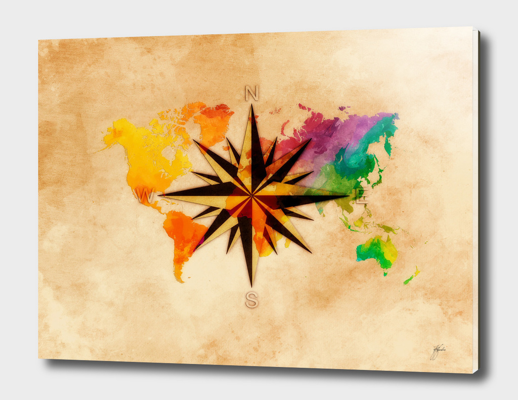 world map wind rose 2