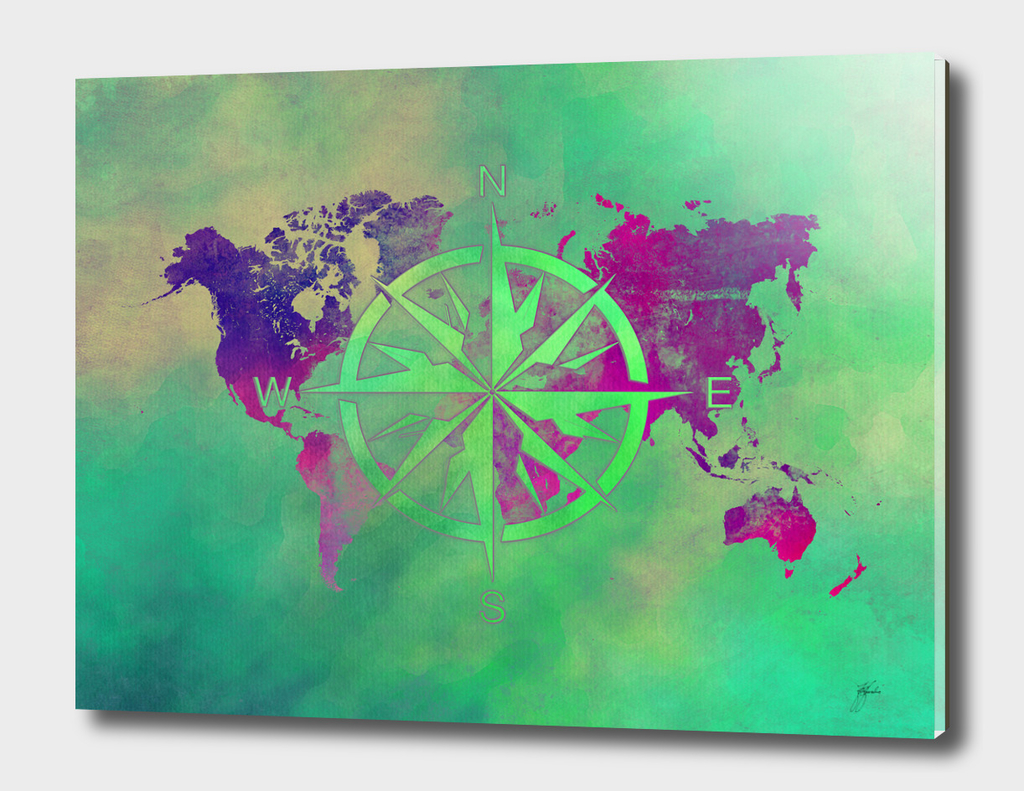 world map wind rose 6