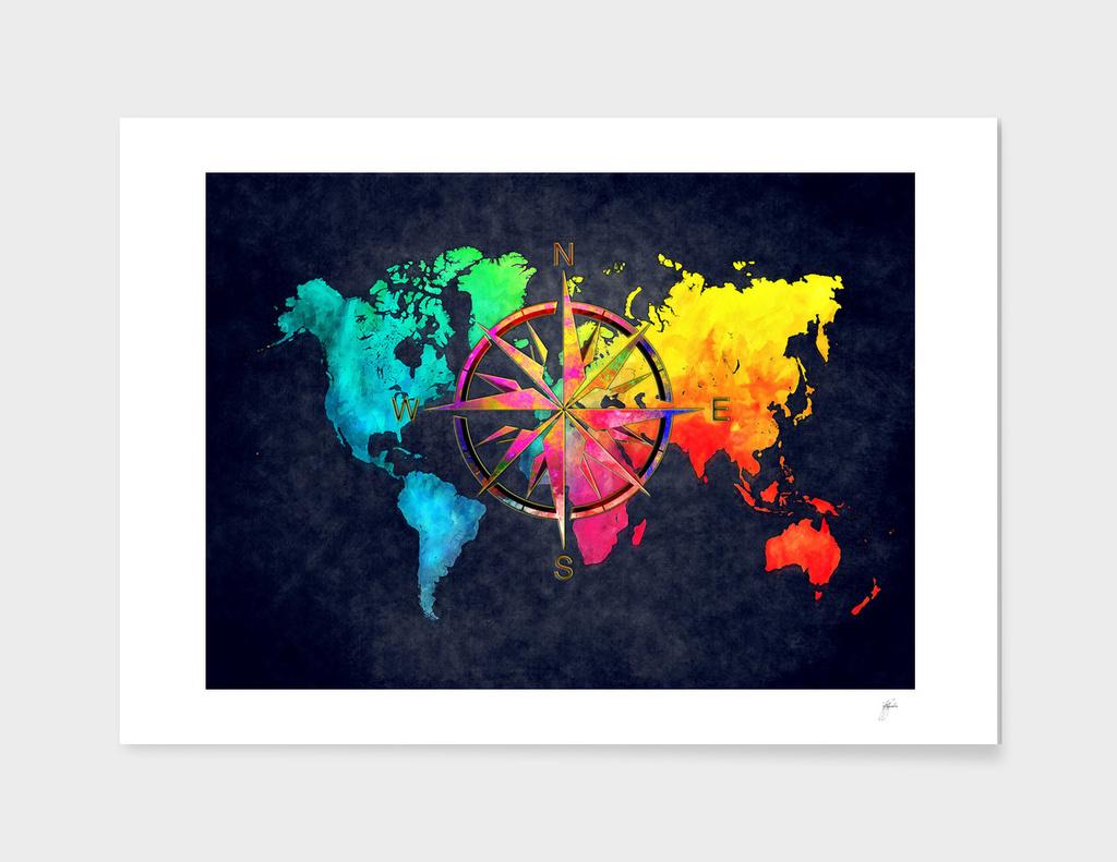 world map wind rose 9