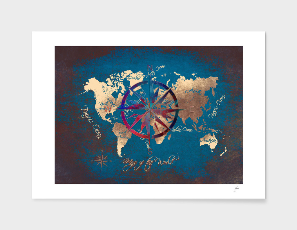 world map wind rose 7