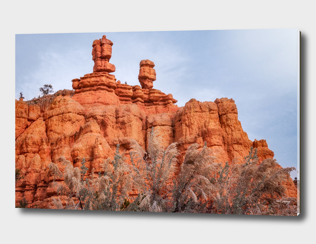Close up of Interesting Rock Formations at Red Canyon, USA.